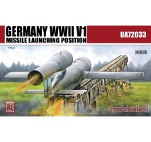 Modelcollect - 1:72 Germany WWII V1 Missile launching position 2 in 1