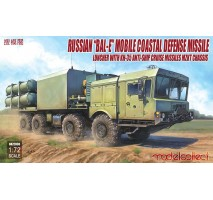 "Modelcollect - 1:72 Russian ""Bal-E"" mobile coastal defense missile Launcher with Kh-35 anti-ship cruise missiles MZKT chassis"