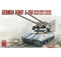 Modelcollect - 1:72 German WWII  E-100 super heavy panzer with 128mm FLAK 40 Zwilling