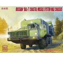 "Modelcollect - 1:72 Russian ""Bal-E"" mobile coastal defense missile Launcher with Kh-35 anti-ship cruise missiles MAZ chassis early type"