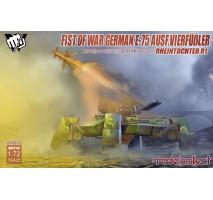 Modelcollect - 1:72 Fist of War German WWII E75 Ausf.vierfubler Rheintochter 1