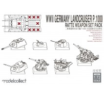 Modelcollect - 1:72 WWII Germany Landcruiser p.1000 Ratte weapon set pack