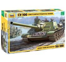 Zvezda 3688 - 1:35 SOVIET S.P. GUN SU-100 (new moulds)