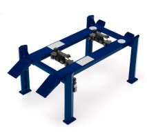 GreenLight 12884 - Four-Post Lift - Blue