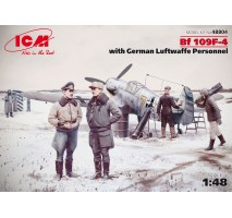 ICM 48804 - 1:48 Bf 109F-4 with German Luftwaffe Personnel