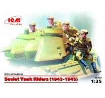 ICM 35640 - 1:35 Soviet Tank Riders, 1943-1945, (100% new molds) - 4 figures