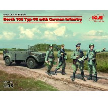 ICM 35504 - 1:35 Horch 108 Typ 40 with German Infantry - 4 figures