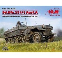 ICM 35101 - 1:35 Sd.Kfz.251/1 Ausf.A, WWII German Armoured Personnel Carrier (100% new molds)