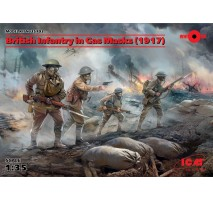 ICM 35703 - 1:35 British Infantry in Gas Masks (1917) (4 figures)