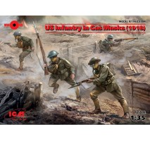 ICM 35704 - 1:35 US Infantry in Gas Masks (1918) (4 figures)