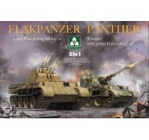 """TAKOM 2105 - 1:35 Flakpanzer Panther """"Coelian"""" with 37mm Flakzwilling 341 & 20mm flakvierling mg151/20 2 in 1"""
