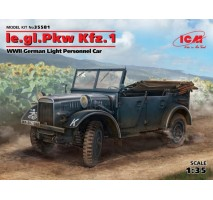 ICM 35581 - 1:35 le.gl.Pkw Kfz.1, WWII German Light Personnel Car (100% new molds)
