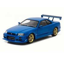 GreenLight 19032 - 1999 Nissan Skyline GT-R (R34) - Bayside Blue - Artisan Collection