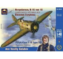 ARK Models AK48034 - 1:48 Polikarpov I-16 Type 18 Russian fighter. Ace Vasiliy Golubev