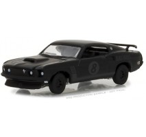 GreenLight 27950-B - 1969 Ford Mustang Black Bandit Trans Am Racing Team Solid Pack - Black Bandit Series 19