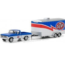 GreenLight 32120-A - Hitch & Tow Series 12 - 1970 Ford F-100 STP and STP Racing Trailer Solid Pack