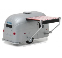 GreenLight 34040-E - Airstream 16' Bambi with Red and White Awning Solid Pack - Hitched Homes Series 4