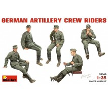 Miniart 35040 - 1:35 German Artillery Crew Riders - 5 figures