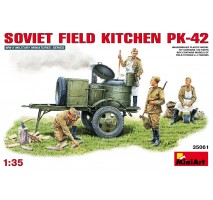 Miniart 35061 - Soviet Field Kitchen KP-42 - 4 figures 1:35