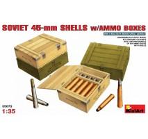 Miniart 35073 - 1:35 Soviet 45-mm Shells w/ Ammo Boxes