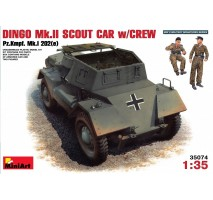 Miniart 35074 - 1:35 Dingo Mk II ( Pz.Kpfw.Mk 1202(e) w/crew - 2 figures