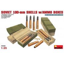 Miniart 35088 - Soviet 100-mm Shells w/ Ammo Boxes 1:35