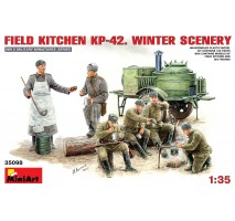 Miniart 35098 - Field Kitchen KP-42 - Winter Scenery - 6 figures 1:35
