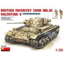 Miniart 35106 - 1:35 British Infantry Tank Mk.3 Valentine Mk. 5 - 2 figures
