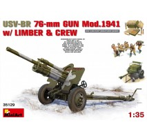 Miniart 35129 - 1:35 USV-BR 76-mm Gun Mod.1941 w/Limber & Crew - 5 figures