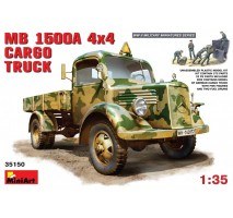 Miniart 35150 - 1:35 MB L1500 A 4x4 Cargo Truck - 5 figures