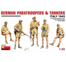 Miniart 35163 - 1:35 German Paratroopers & Tankers (Italy 1943) - 5 figures