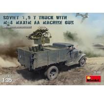 Miniart 35186 - 1:35 Soviet 1,5 t Truck w/ M-4 Maxim AA Machine Gun