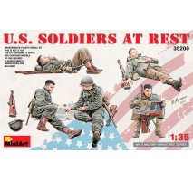 Miniart 35200 - U.S. Soldiers at Rest - 5 figures, details included 1:35