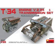 Miniart 35205 - T-34 Engine (V-2-34) & Transmission Set 1:35