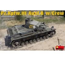 Miniart 35221 - 1:35 Pz.Kpfw.3 Ausf.B w/Crew - 5 figures