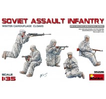 Miniart 35226 - Soviet Assault Infantry (Winter Camouflage Cloaks) - 5 figures 1:35