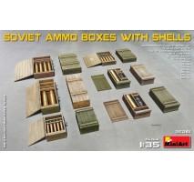 Miniart 35261 - Soviet Ammo Boxes w/Shells 1:35