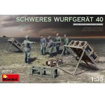 Miniart 35273 - 1:35 SCHWERES WURFGERAT 40 - 5 figures