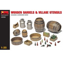 Miniart 35550 - Wooden Barrels & Village Utensils 1:35