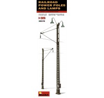 Miniart 35570 - Railroad Power Poles & Lamps 1:35