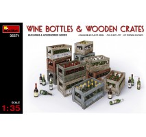 Miniart 35575 - Champagne & Cognac Bottles with Crates 1:35