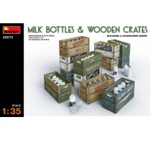 Miniart 35573 - Milk Bottles & Wooden Crates 1:35