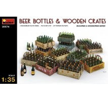 Miniart 35574 - Beer Bottles & Wooden Crates 1:35