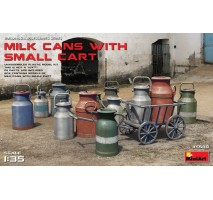Miniart 35580 - Milk Cans with Small Cart 1:35