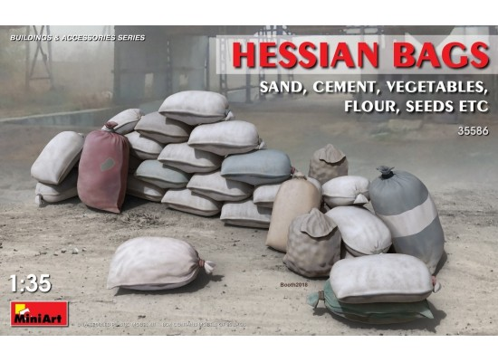 Miniart 35586 - 1:35 Hessian Bags(sand, cement,vegetables, flour etc)