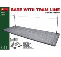 Miniart 36057 - 1:35 Base with Tram Line