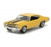 GreenLight 37110-E - 1970 Chevy COPO Chevelle - COPO Daytona Yellow Solid Pack - Mecum Auctions Collector Cars Series 1