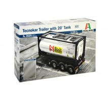 Italeri 3929 - 1:24 TECNOKAR TRAILER with  20ft TANK
