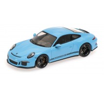 Minichamps 410066225 - PORSCHE 911 R – 2016 – GULFBLUE W/ BLACK WRITING L.E. 480 pcs.