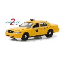 GreenLight 44790-F - John Wick: Chapter 2 (2017) - 2008 Ford Crown Victoria Taxi Solid Pack - Hollywood Series 19
